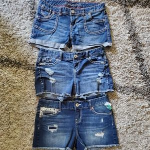 Lot Of Maurices Jean Shorts Size 3/4